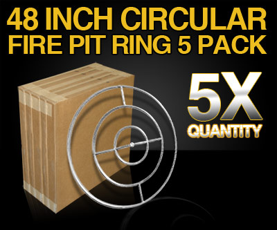 Contractor Pack 48 Inch Stainless Steel Circular Fire Pit