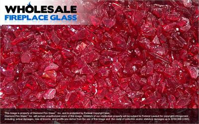 Ruby Red Fireplace Glass