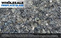 Gun Metal Gray Fireplace Glass Crystal