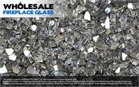 Gun Metal Gray Reflective Crystal Fireplace Glass