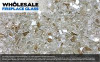 Platinum X Reflective Crystal Wholesale Fireplace Glass