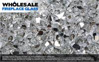 Silver Reflective Crystal Fireplace Glass